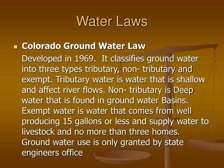 Water Laws