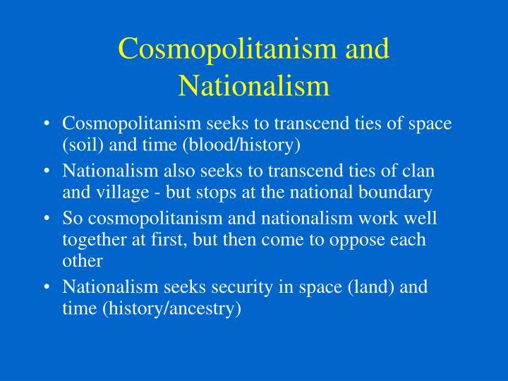 Cosmopolitanism and Nationalism