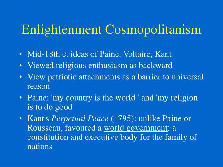 Enlightenment Cosmopolitanism