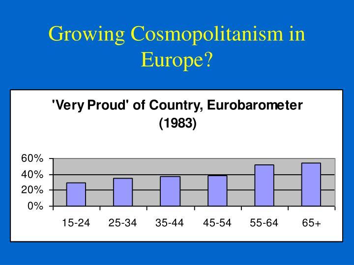 Growing Cosmopolitanism in Europe?