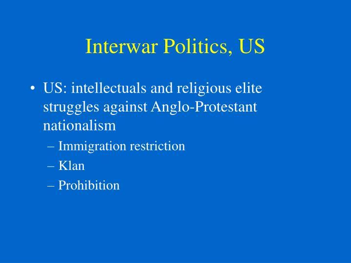 Interwar Politics, US