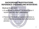 background investigations reference checking and interviews2