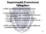 departmental promotional delegation