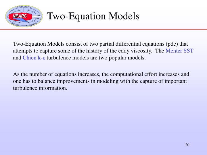 Two-Equation Models