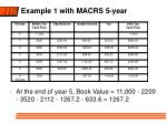 example 1 with macrs 5 year