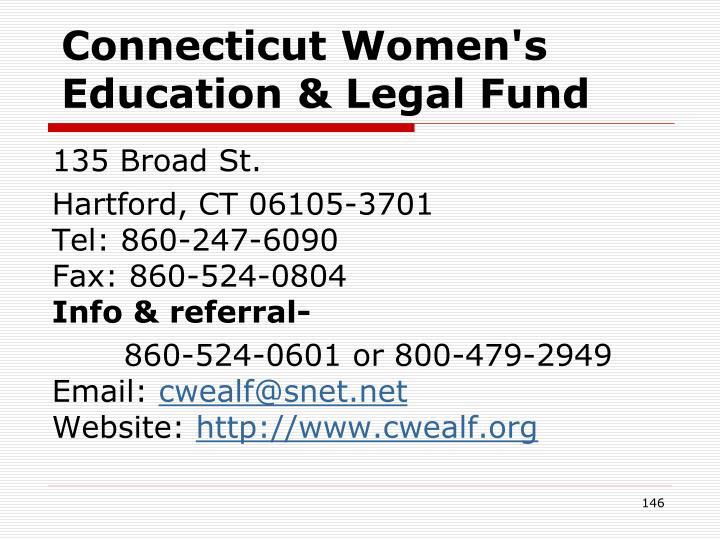 Connecticut Women's Education & Legal Fund