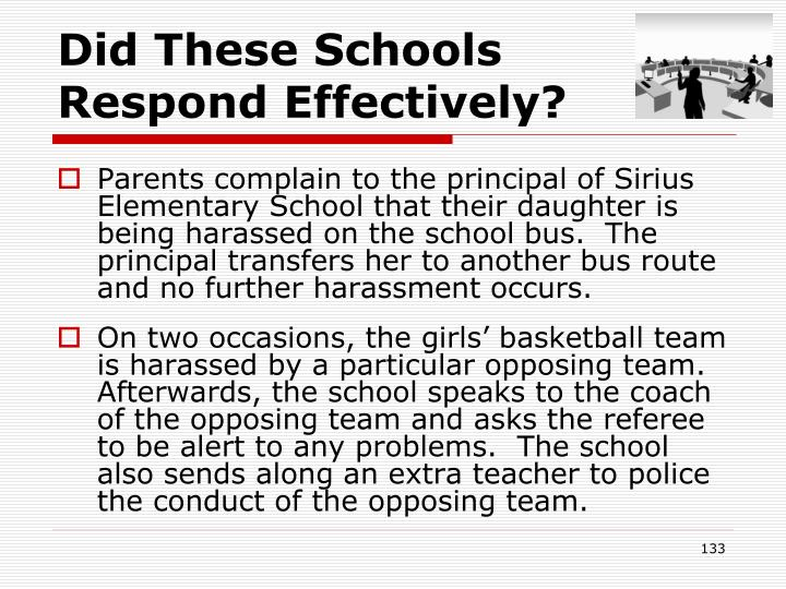 Did These Schools    Respond Effectively?