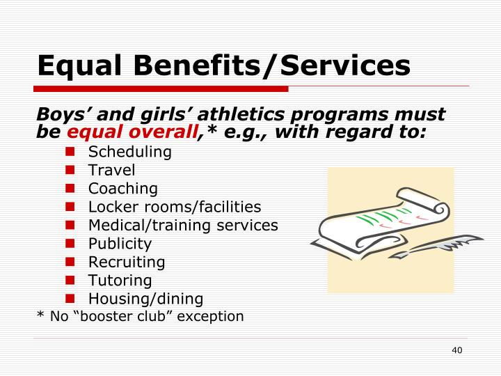Equal Benefits/Services
