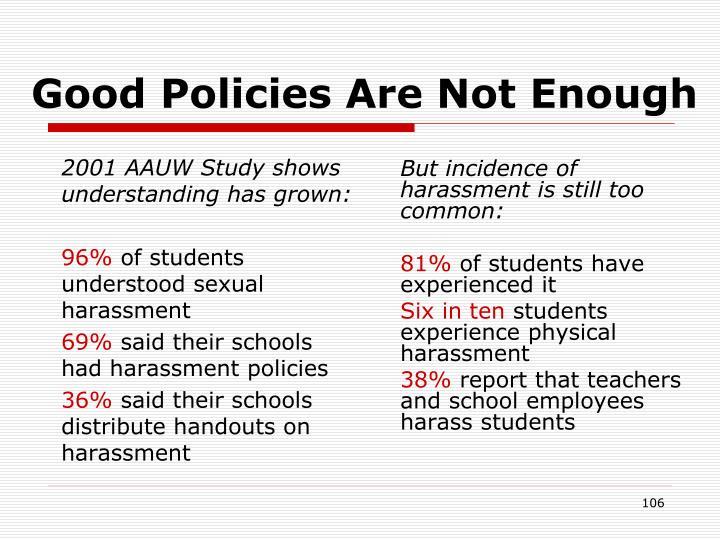 2001 AAUW Study shows understanding has grown: