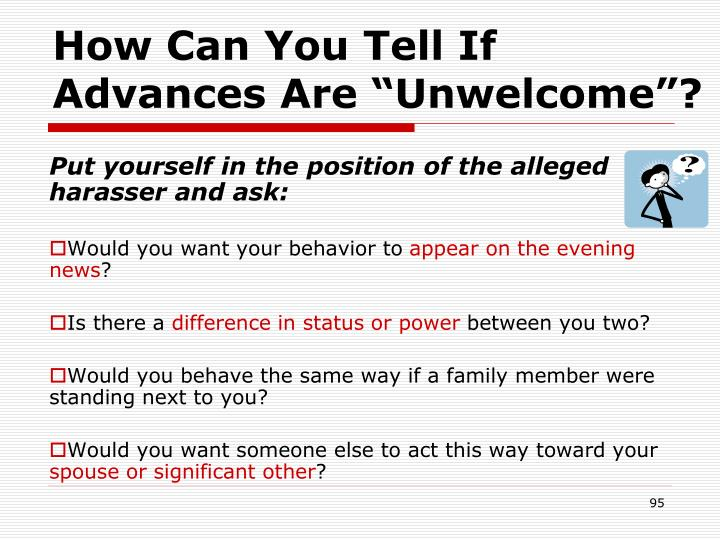 """How Can You Tell If Advances Are """"Unwelcome""""?"""
