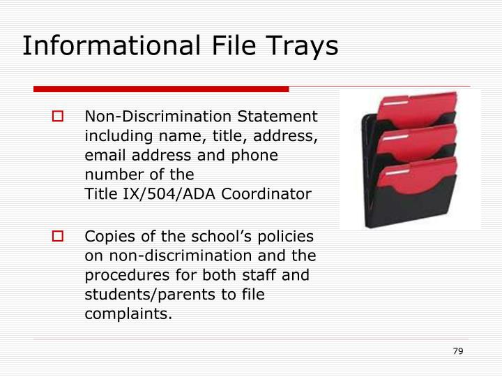 Informational File Trays