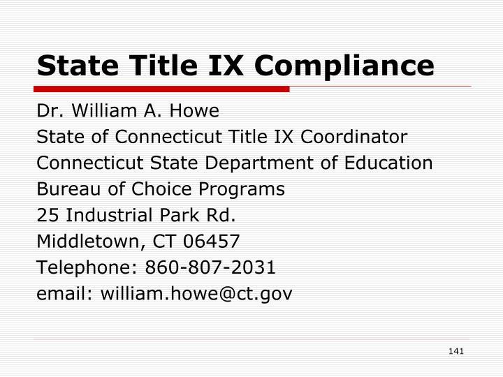 State Title IX Compliance