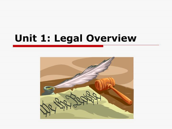 Unit 1: Legal Overview
