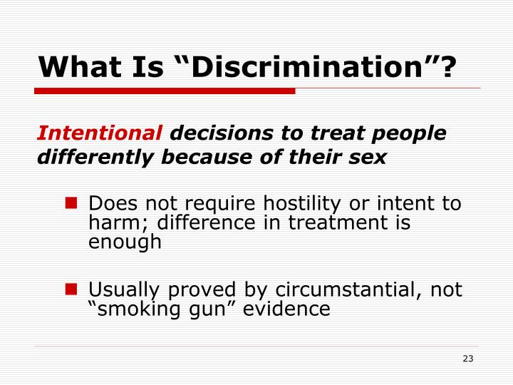 """What Is """"Discrimination""""?"""