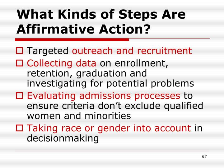 What Kinds of Steps Are Affirmative Action?