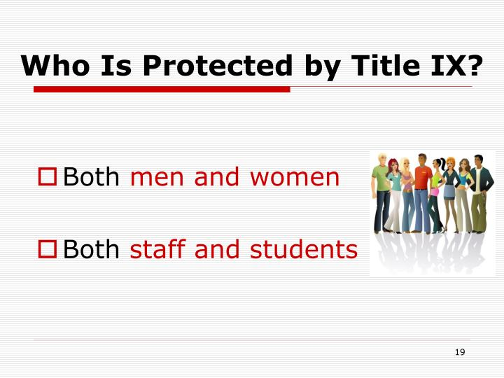Who Is Protected by Title IX?