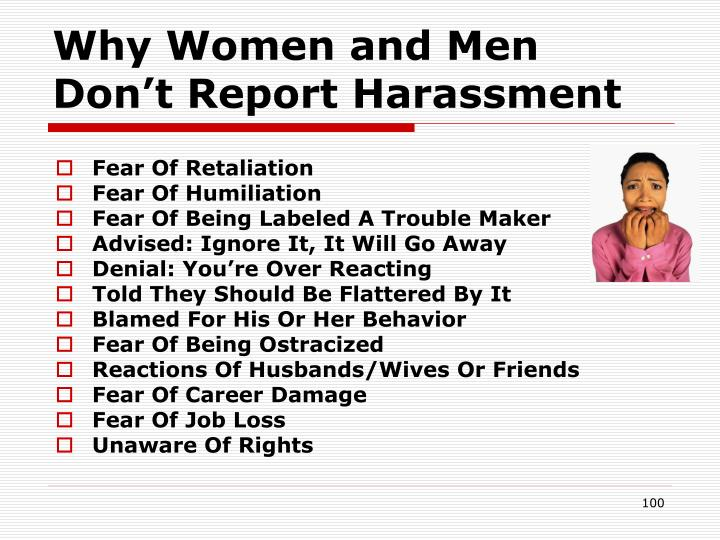 Why Women and Men Don't Report Harassment