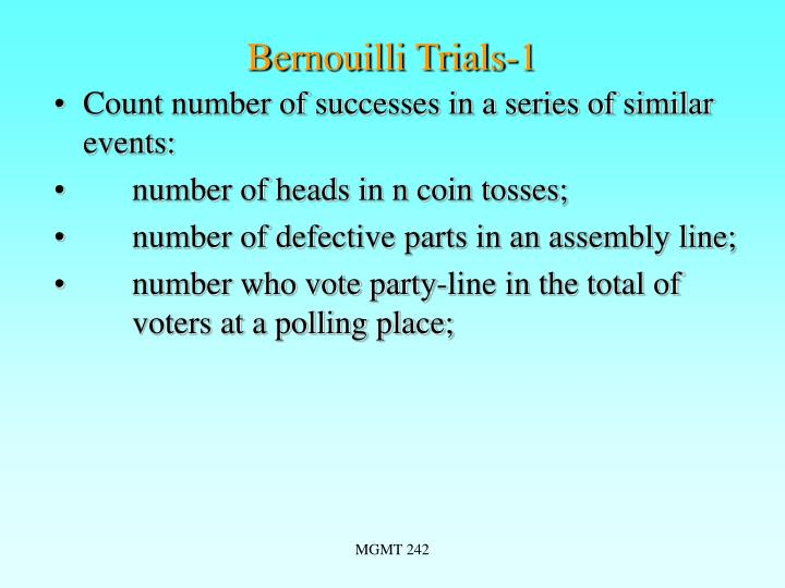 Bernouilli Trials-1