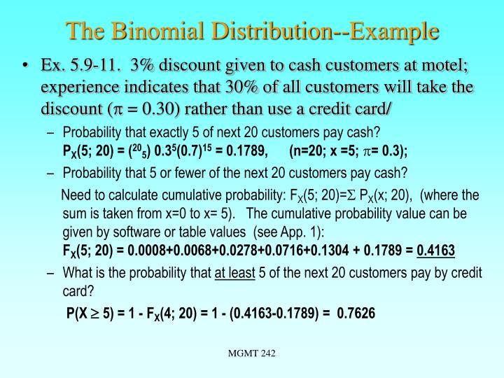 The Binomial Distribution--Example