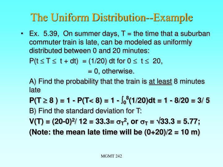 The Uniform Distribution--Example