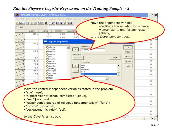 Run the Stepwise Logistic Regression on the Training Sample  - 2