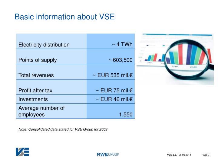 Basic information about VSE