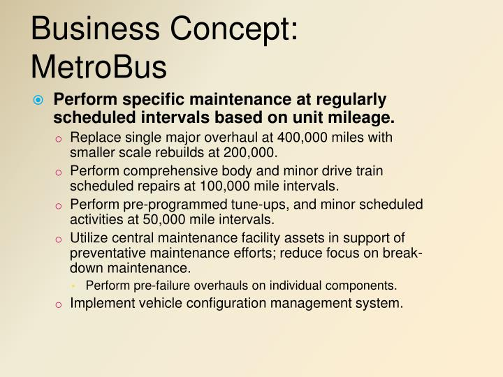 Business Concept: MetroBus