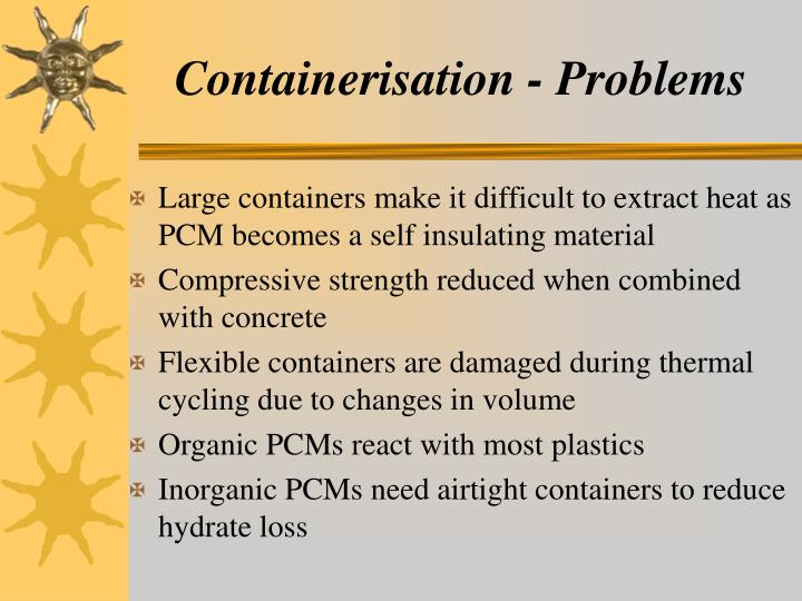 Containerisation - Problems