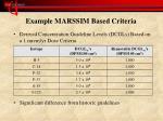 example marssim based criteria
