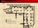 example systematic lab design
