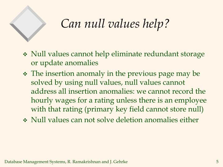 Can null values help?