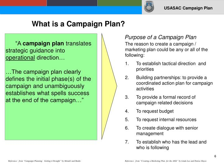 What is a Campaign Plan?
