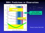 bbn predictions vs observations