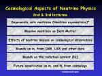 cosmological aspects of neutrino physics2