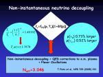 non instantaneous neutrino decoupling1