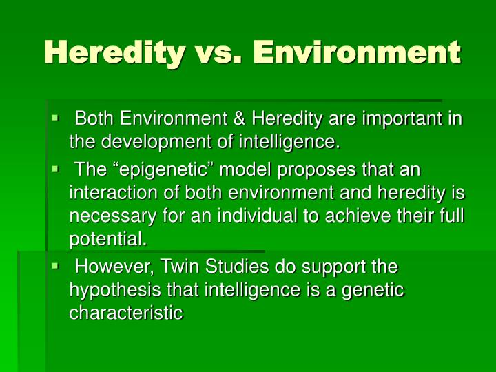 hypothesis of heredity Basis of heredity: mendel (1866) proposed that inheritance is controlled by paired germinal units or factors, now called genes they are present in all cells of the body and are transferred to the next generation through gametes.