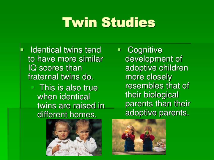 twin studies A second look at twin studies as behavioral genetics enters a second century, the field's oldest research method remains both relevant and controversial.
