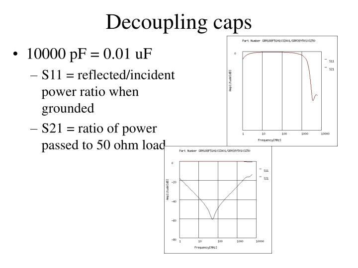 Decoupling caps