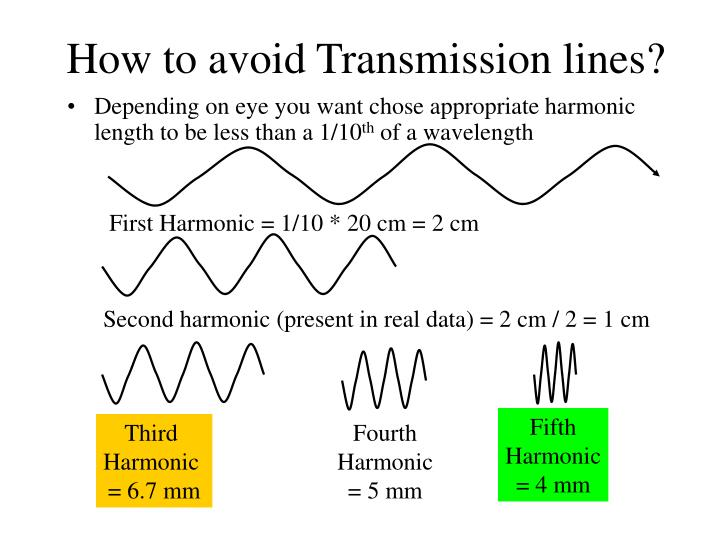 How to avoid Transmission lines?