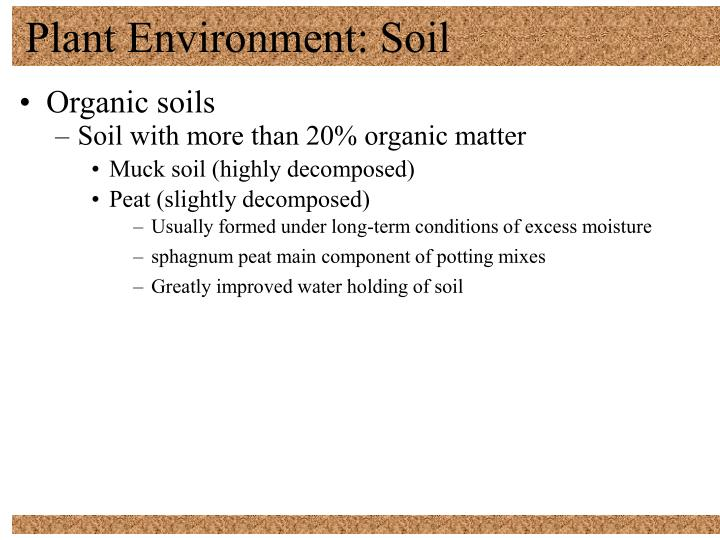 Plant Environment: Soil