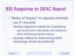 bis response to deac report1