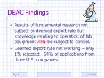 deac findings1