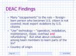 deac findings2