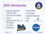 deac membership