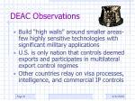 deac observations