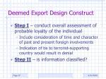 deemed export design construct3