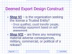 deemed export design construct6