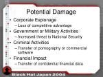 potential damage