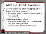 what are covert channels1