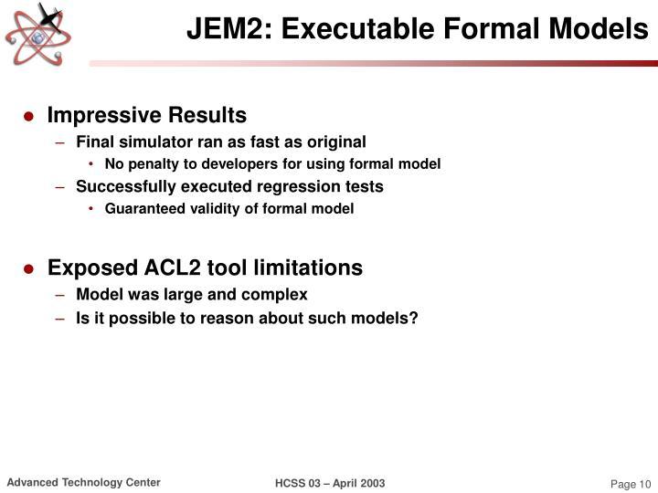JEM2: Executable Formal Models